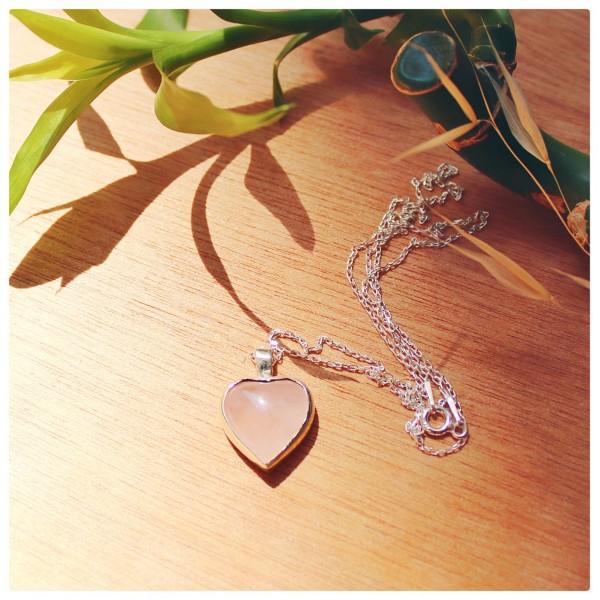 Pink Calsedon Stone Necklace