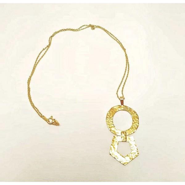 Geometric Shape Hammered Necklace