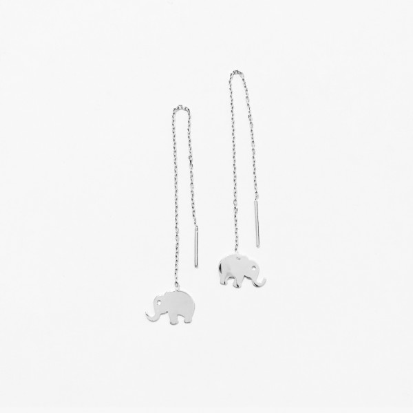 Chain Elephant Earring