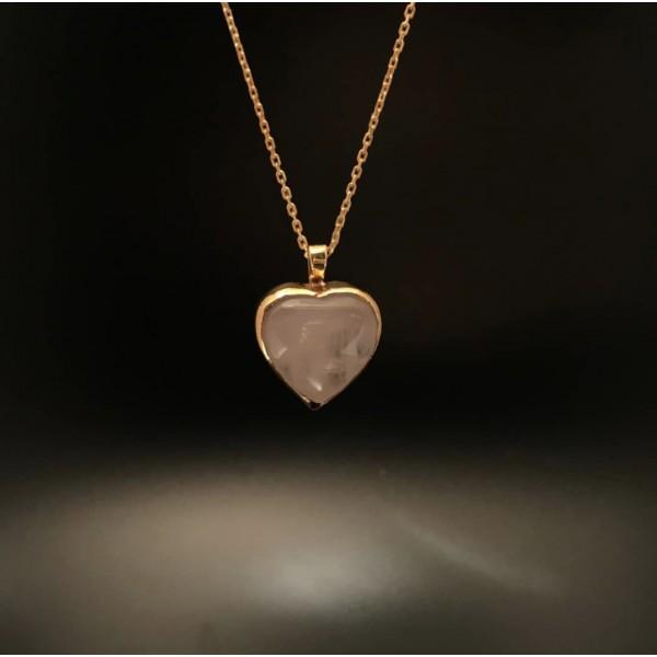 Pink Quartz  Heart (Love Stone)